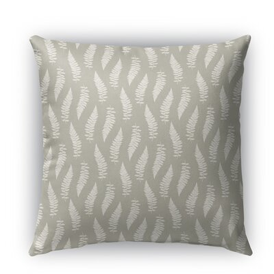 Feathers Burlap Indoor/Outdoor Throw Pillow Size: 18 H x 18 W x 5 D