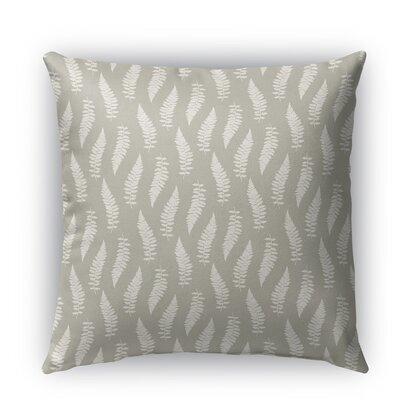Feathers Burlap Indoor/Outdoor Throw Pillow Size: 16 H x 16 W x 5 D