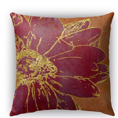 Flora Burlap Indoor/Outdoor Throw Pillow Size: 20 H x 20 W x 5 D