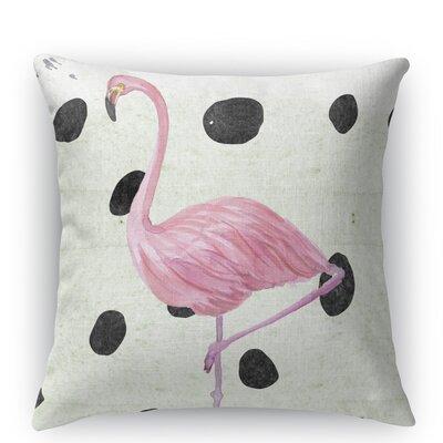 Flamingo II Burlap Indoor/Outdoor Throw Pillow Size: 26 H x 26 W x 5 D