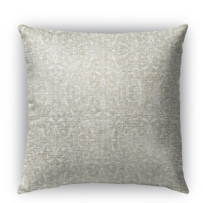 Florence Burlap Indoor/Outdoor Throw Pillow Size: 16 H x 16 W x 5 D