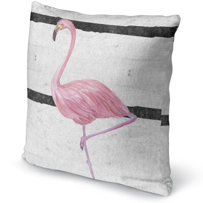 Flamingo III Burlap Indoor/Outdoor Pillow Size: 18 H x 18 W x 5 D