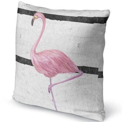 Flamingo III Accent Pillow Size: 16 H x 16 W x 5 D