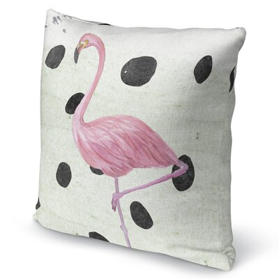 Flamingo II Burlap Indoor/Outdoor Pillow Size: 26 H x 26 W x 5 D