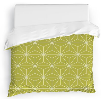 Prism Duvet Cover Size: King, Color: Green