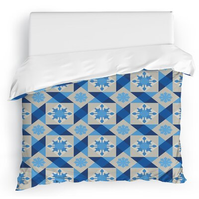 Jonie Tiles Duvet Cover Size: King, Color: Blue/Gray