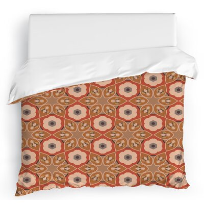 Galore Duvet Cover Size: Twin, Color: Brown/Red