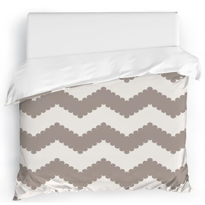 Play Chevron Duvet Cover Size: King, Color: Gray/White
