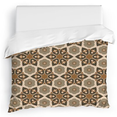 Galore Duvet Cover Size: Twin, Color: Brown/Gray