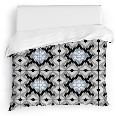 Tiles Duvet Cover Size: Twin, Color: Gray/Blue
