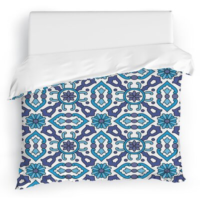 Kaleidoscope Duvet Cover Size: Twin, Color: White/Blue/Purple