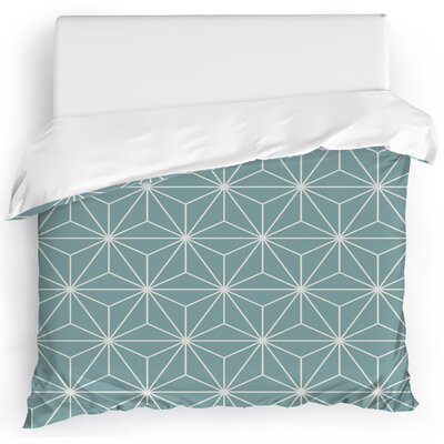 Prism Duvet Cover Color: Blue, Size: Full/Queen
