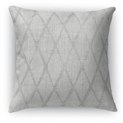 Carpi Throw Pillow Color: Gray, Size: 24