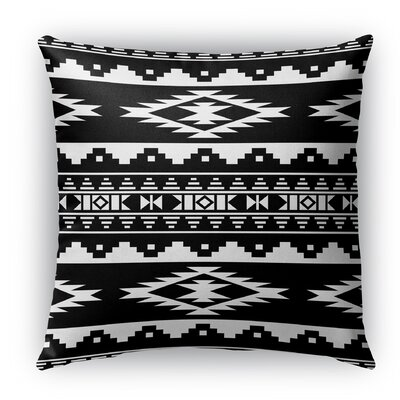 Cherokee Indoor/Outdoor Throw Pillow with Zipper Size: 16 H x 16 W x 5 D, Color: Black