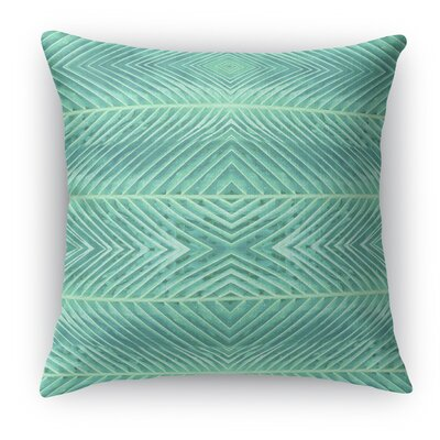 Palms Throw Pillow Color: Green, Size: 18 H x 18 W x 5 D