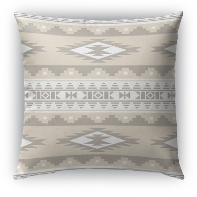 Cherokee Indoor/Outdoor Throw Pillow with Zipper Color: Tan, Size: 26 H x 26 W x 5 D