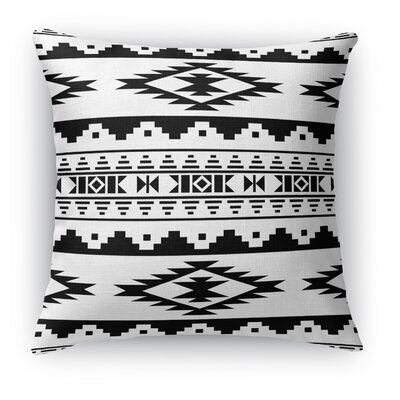 Cherokee Throw Pillow Size: 24 H x 24 W x 5 D, Color: Black/White