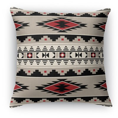 Cherokee Throw Pillow Size: 18 H x 18 W x 5 D, Color: Red