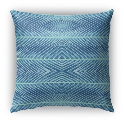 Palms Burlap Indoor/Outdoor Throw Pillow Size: 18 H x 18 W x 5 D, Color: Blue
