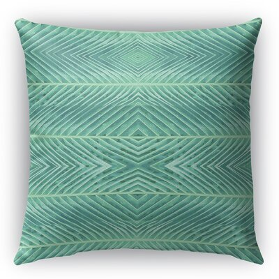 Palms Burlap Indoor/Outdoor Throw Pillow Size: 16 H x 16 W x 5 D, Color: Green