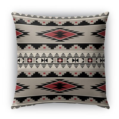 Cherokee Indoor/Outdoor Throw Pillow Size: 26 H x 26 W x 5 D, Color: Red