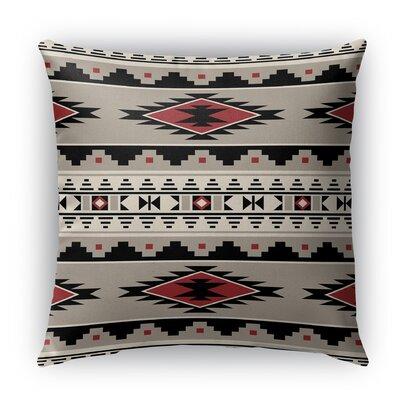 Cherokee Indoor/Outdoor Throw Pillow Size: 16 H x 16 W x 5 D, Color: Red