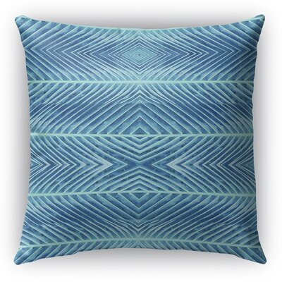 Palms Throw Pillow Color: Blue, Size: 20 H x 20 W x 5 D