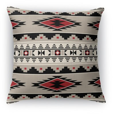 Cherokee Throw Pillow Size: 24 H x 24 W x 5 D, Color: Red