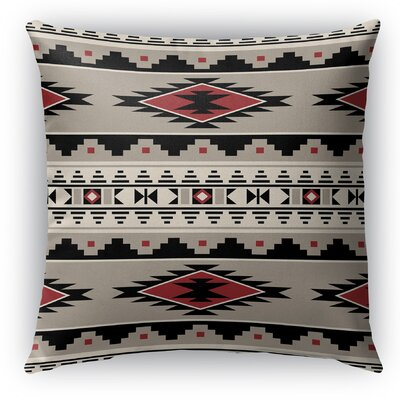 Cherokee Indoor/Outdoor Throw Pillow with Zipper Size: 18 H x 18 W x 5 D, Color: Red