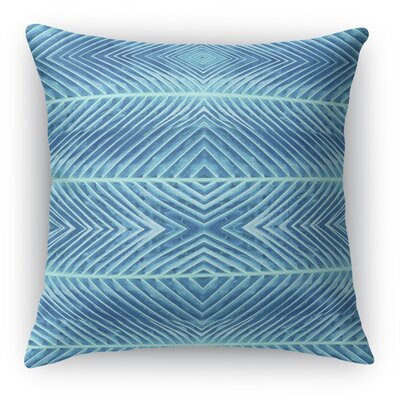 Palms Throw Pillow Size: 16 H x 16 W x 5 D, Color: Blue