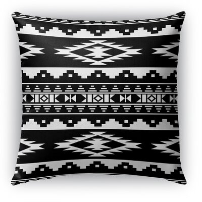 Cherokee Burlap Indoor/Outdoor Throw Pillow Size: 18 H x 18 W x 5 D, Color: Black