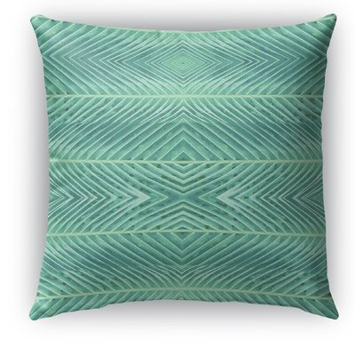 Palms Throw Pillow Size: 26 H x 26 W x 5 D, Color: Green