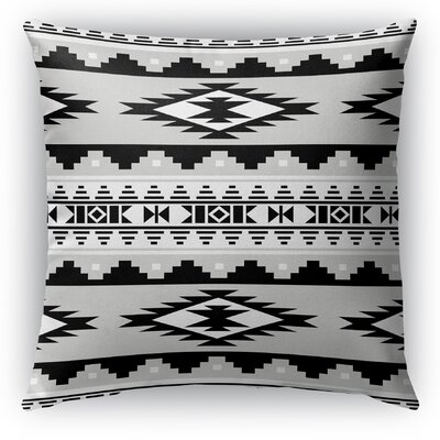 Cherokee Indoor/Outdoor Throw Pillow with Zipper Size: 16 H x 16 W x 5 D, Color: Gray