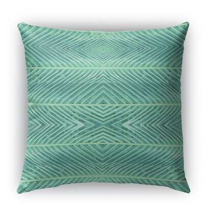 Palms Indoor/Outdoor Throw Pillow with Zipper Size: 18 H x 18 W x 5 D, Color: Green