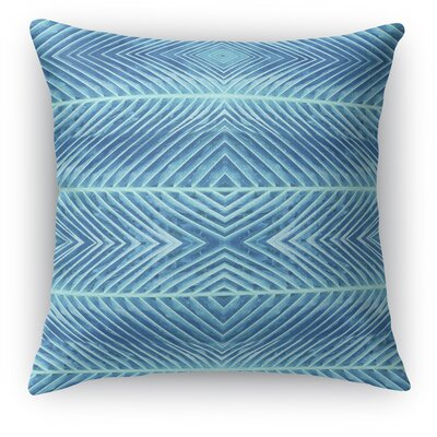 Palms Throw Pillow Size: 18 H x 18 W x 5 D, Color: Blue