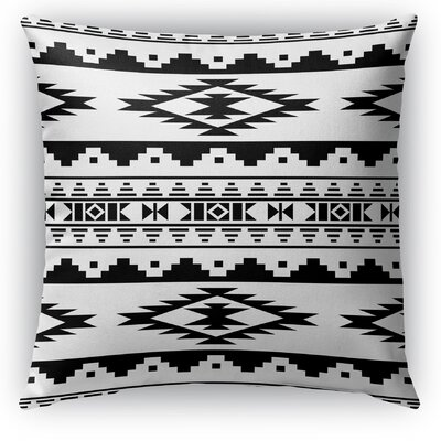 Cherokee Indoor/Outdoor Throw Pillow with Zipper Size: 26 H x 26 W x 5 D, Color: White