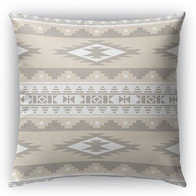 Cherokee Burlap Indoor/Outdoor Throw Pillow Color: Tan, Size: 26 H x 26 W x 5 D