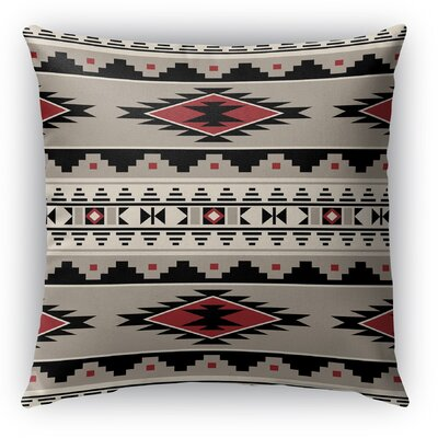 Cherokee Burlap Indoor/Outdoor Throw Pillow Size: 16 H x 16 W x 5 D, Color: Red