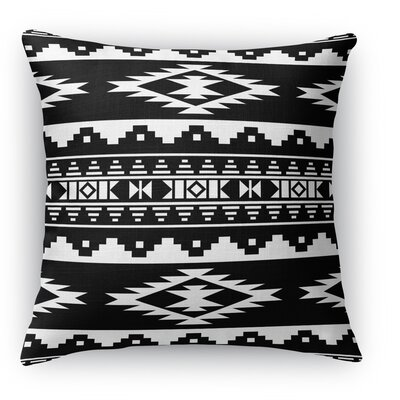 Cherokee Throw Pillow Size: 24 H x 24 W x 5 D, Color: Black