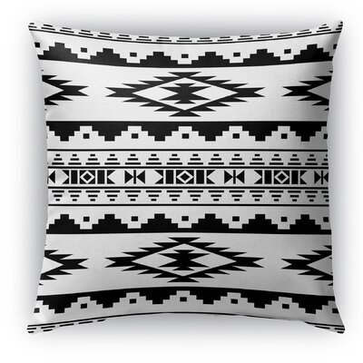 Cherokee Burlap Indoor/Outdoor Throw Pillow Size: 16 H x 16 W x 5 D, Color: Black/White