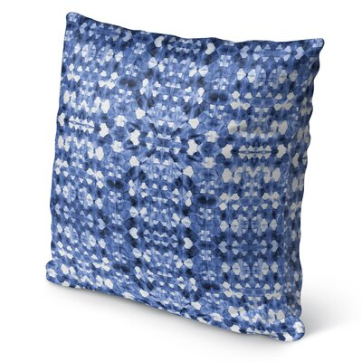 Shibori Mirror Burlap Indoor/Outdoor Pillow Size: 18 H x 18 W x 5 D