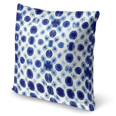 Shibori Circle Accent Pillow Size: 16 H x 16 W x 5 D