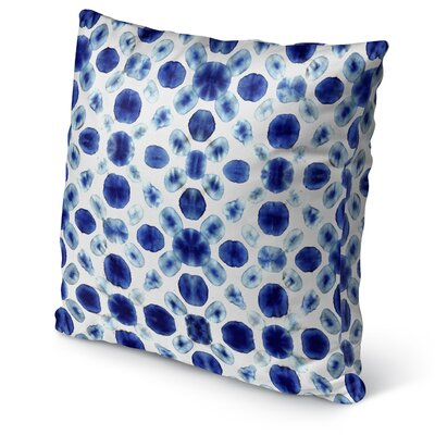 Shibori Circle Burlap Indoor/Outdoor Pillow Size: 18 H x 18 W x 5 D
