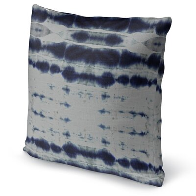 Shibori Stripe Accent Pillow Size: 16 H x 16 W x 5 D