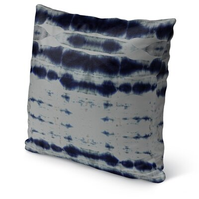 Shibori Stripe Burlap Indoor/Outdoor Pillow Size: 26 H x 26 W x 5 D