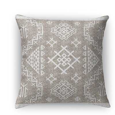 Cyrill Throw Pillow Size: 18 H x 18 W x 5 D, Color: White
