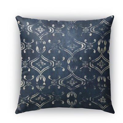 El Durado Burlap Indoor/Outdoor Throw Pillow Size: 26 H x 26 W x 5 D, Color: Blue