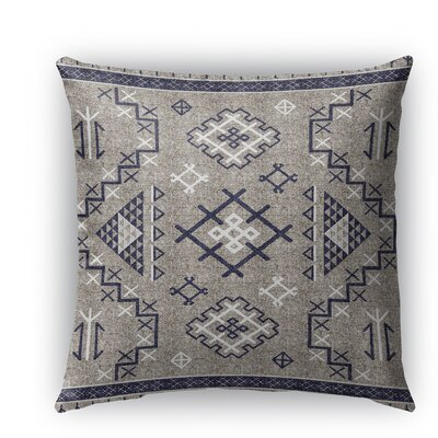 Cyrill Indoor/Outdoor Throw Pillow Size: 18 H x 18 W x 5 D, Color: Dark Blue