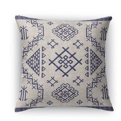 Cyrill Throw Pillow Color: Light Blue, Size: 18 H x 18 W x 5 D
