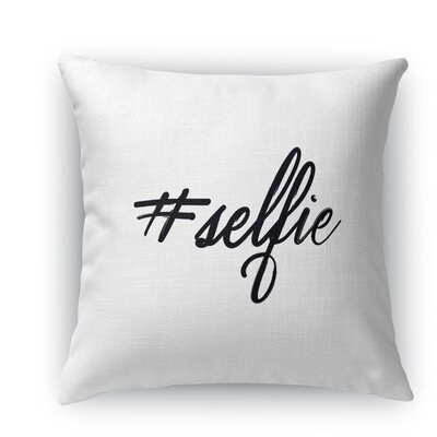 Selfie Burlap Indoor/Outdoor Throw Pillow Size: 26 H x 26 W x 5 D